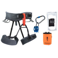 Black Diamond Momentum Rock Climbing Harness Package
