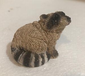 Vintage 1988 Stone Critters Raccoon Figurine