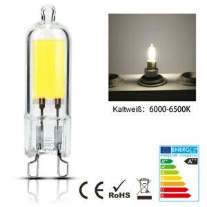 8x 4x G9 LED 6W COB Leuchtmittel Glühbirne Brine ersetzen Halogenlampe Dimmbar