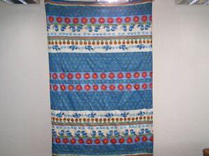 Old-GDR-Quilt-Children-039-s-Blanket-Graziela-Style-Vintage-70er-Years-Bird-Motif