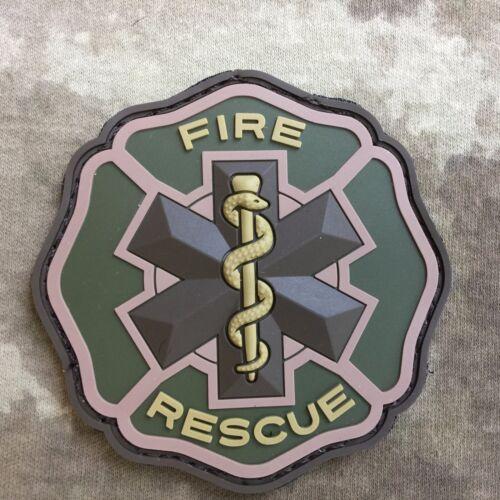 Fire Rescue Croix de Malte Star of Life PVC patch moral