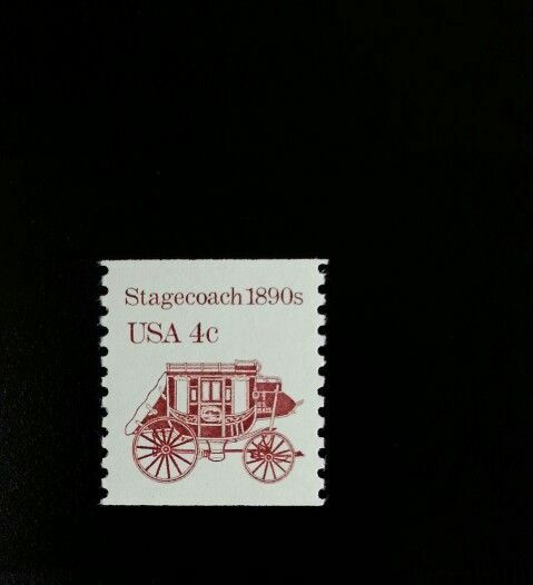 1982 4c Stagecoach, Transportation Coil Scott 1898A Min