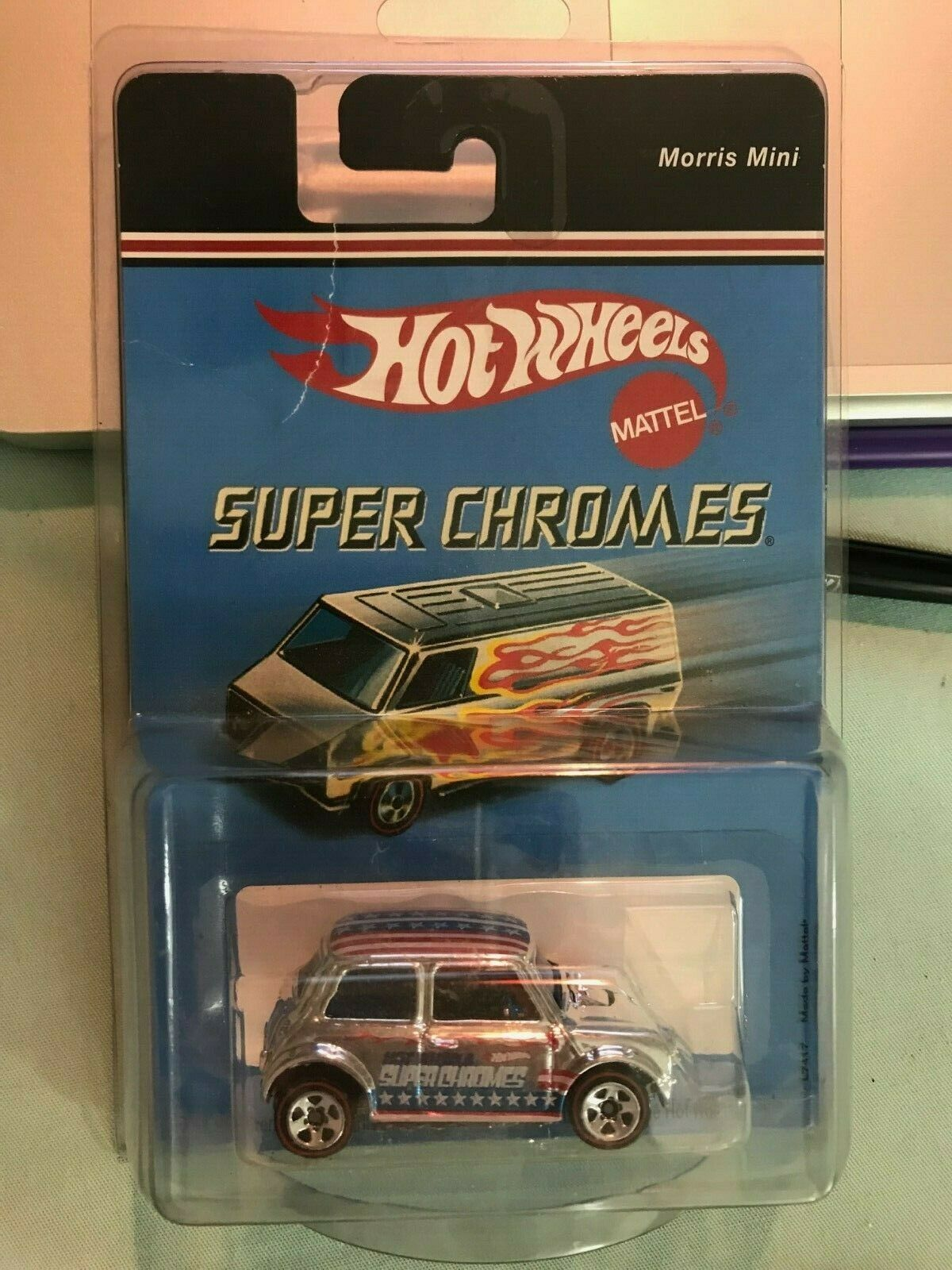 HOT WHEELS 2004 SUPER CHROMES L7417 MADE BY MATTEL MORRIS MINI
