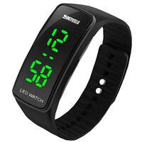 Armbanduhr LED Digital Uhr Damen Herren Kinder Sport Trend Silikon Watch Uhren