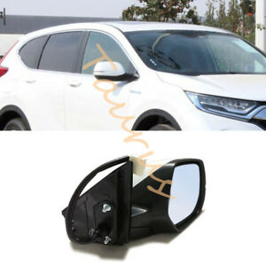 For Honda CRV 2017-2019 Rearview mirror 8 Pins joint Left Driving side White