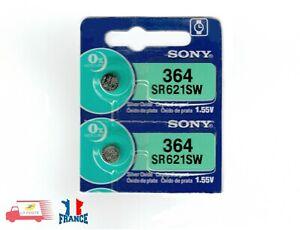 2x-Piles-Montre-SONY-364-SR621SW-Argent-AG1-SR60-LR60-SR621-GP364-V364-SG1-1-55V