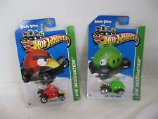 539198a08 Hot Wheels Imagination Angry Birds Red Bird Green Minion Lot of 2 NOC HW 10