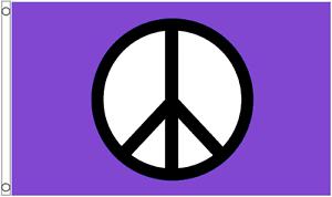 CND Peace Purple Variant 5/' x 3/' Flag