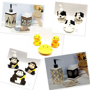 Bathroom-Toothbrush-Paste-Holders-Soap-Dispensers-Dish-Ceramic-Sets-and-Singles