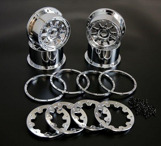 Rear Wheel Hub Beadlock Ring Chrome Plated Plated Plated 1/5 HPI Baja 5B 4127a7