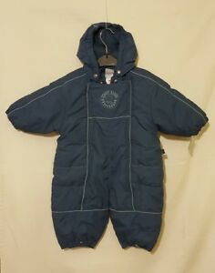 32e67f48f81ac Pippi Blue Baby Boys 0 - 3 months All In One Winter Coat Pram Suit ...