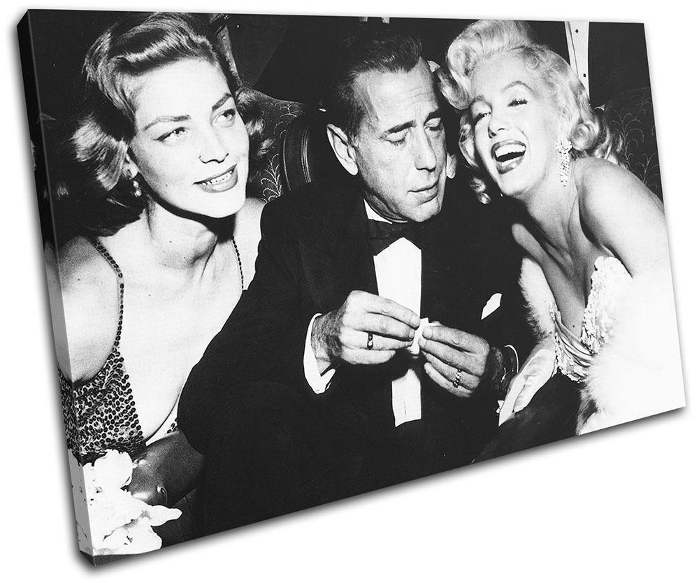 Monroe Bogart Iconic Celebrities SINGLE TOILE murale ART Photo Print