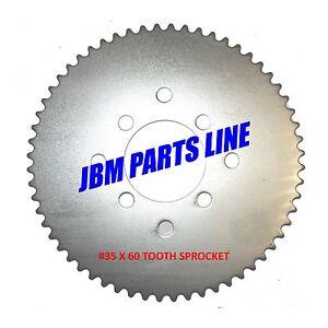 Go Kart #35 Sprocket 60 Tooth Sprocket Universal Mini Bike ATV, Drift Trike