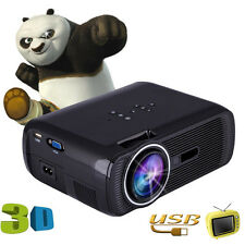 Mini Black LED 3D Projector Home Cinema Theater Full HD VGA USB SD AV New