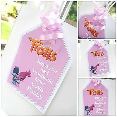5 X SHOPKINS INSPIRED PERSONALISED GIFT TAGS /& RIBBON party bag labels