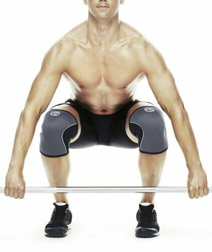 Rehband 105309 RX Knee Sleeve 5mm Knee Support CrossFit Weightlifting Steel Grey