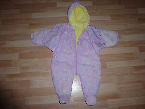 Warme-Maedchen-Baby-Strampler-Gr-68-in-normales-Zustand