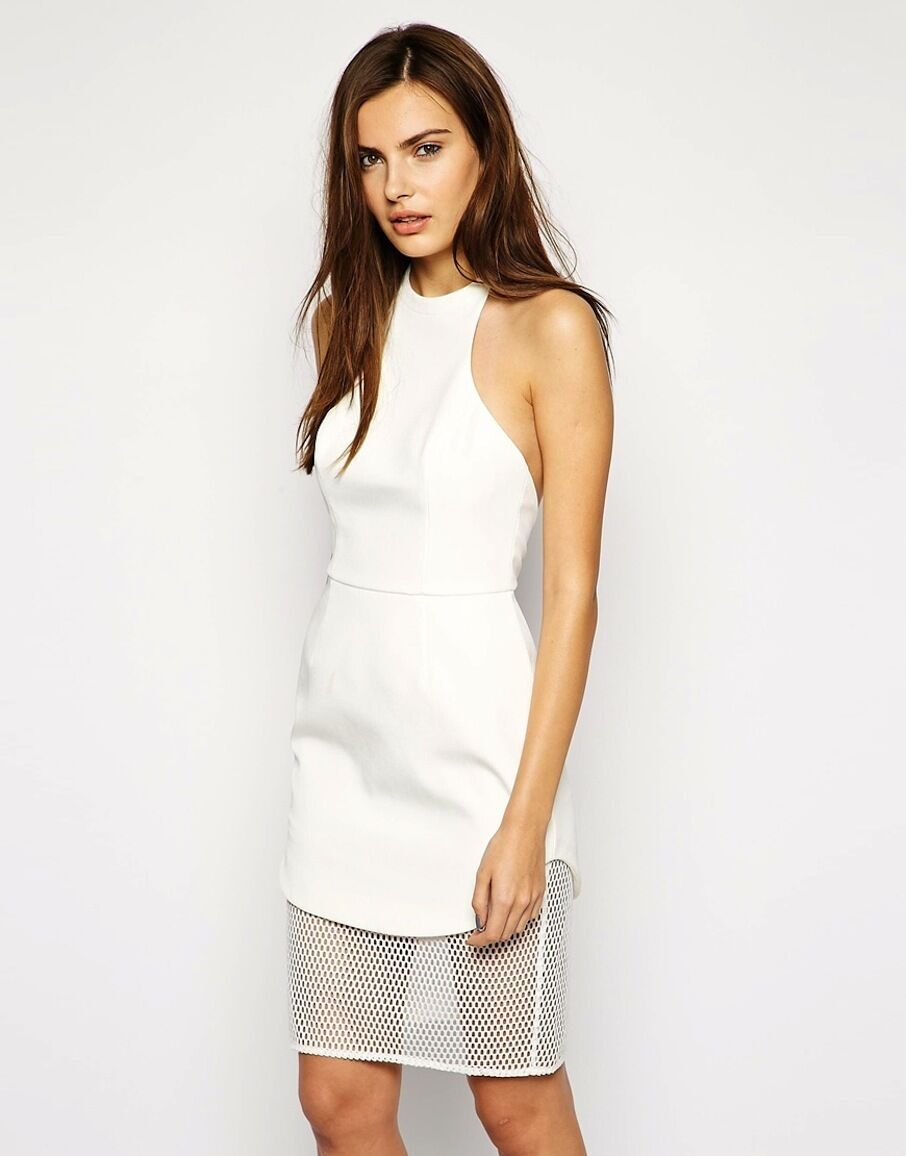 Finders Keepers The Label Fatal Attraction Halter Short Dress White Sz S NWT