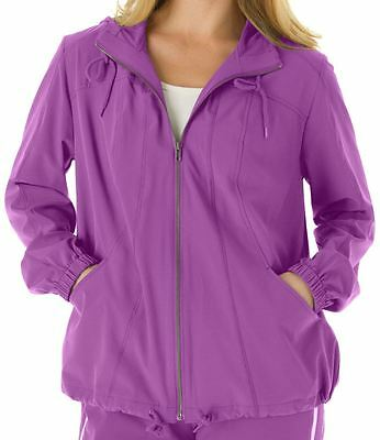 Clothing, Shoes & Accessories Women's Clothing Obedient Woman Within Pretty Zip Front Hooded Active Jacket Woman's Plus Size L 18/20 Nip