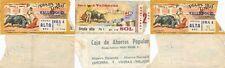 Lote de tres entradas para la plaza de toros de Valladolid. Año 1956/1970.