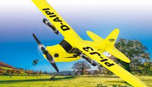 RC Flugzeug Piper J3-Cub Flugzeug 2,4GHz Gyro -SUPER für Einsteiger und Anfänger