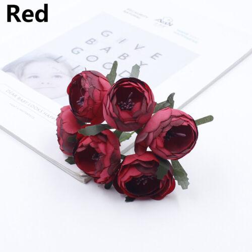 DIY Craft Wedding Decoration Peony Bridal Bouquet Artificial Flowers Fake Roses