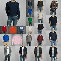 ABERCROMBIE & FITCH MEN ICONIC SWEATER Size S M L XL XXL NWT Blue GRAY RED GREEN