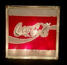 Coca-Cola Glass Block Light~ Home Decor~Gift~Lamp