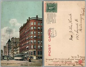MINNEAPOLIS-MN-HENNEPIN-AVENUE-ANTIQUE-1907-UNDIVIDED-POSTCARD