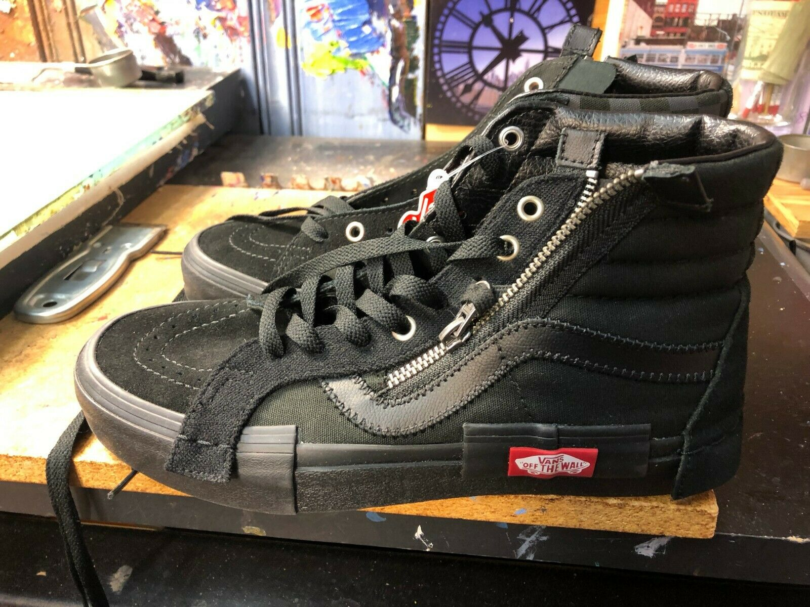 Vans Sk8-Hi Reissue CAP Deconstructed Black Size US 7 Men(8.5 Women)VN0A3WM1276