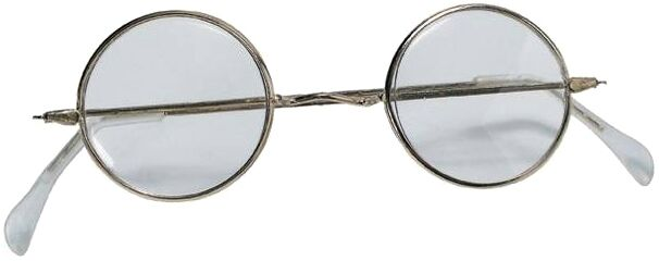 Round Old Fashioned Wire Rim Costume Eye Glasses