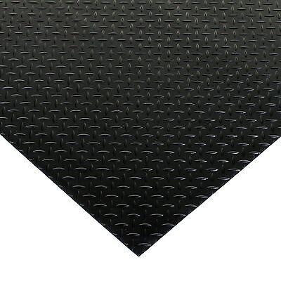 Heavy Duty Floor Mats >> Black Rubber Flooring Matting Heavy Duty Floor Mat Garage Van Shed Diamond Plate Ebay