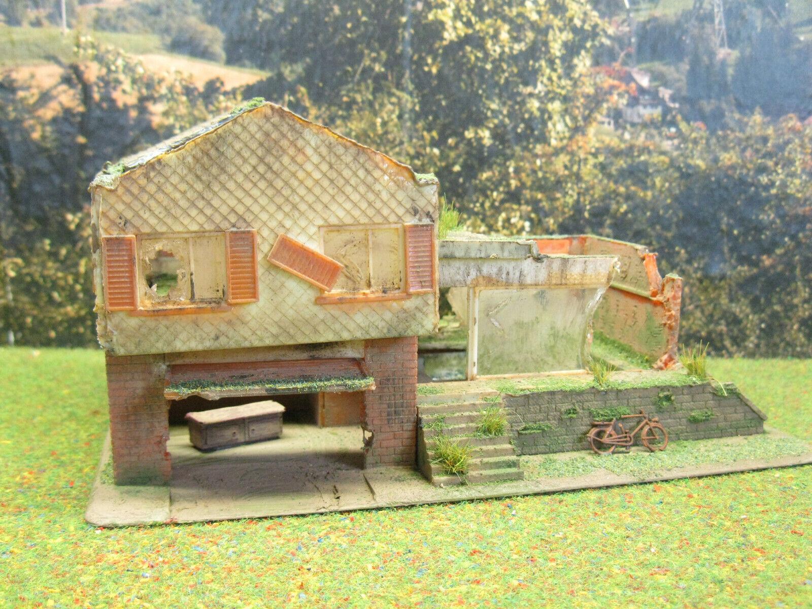 Lost Places  Haus Landschaftsbau Modellbau Diorama Modelleisenbahn H0 1 87