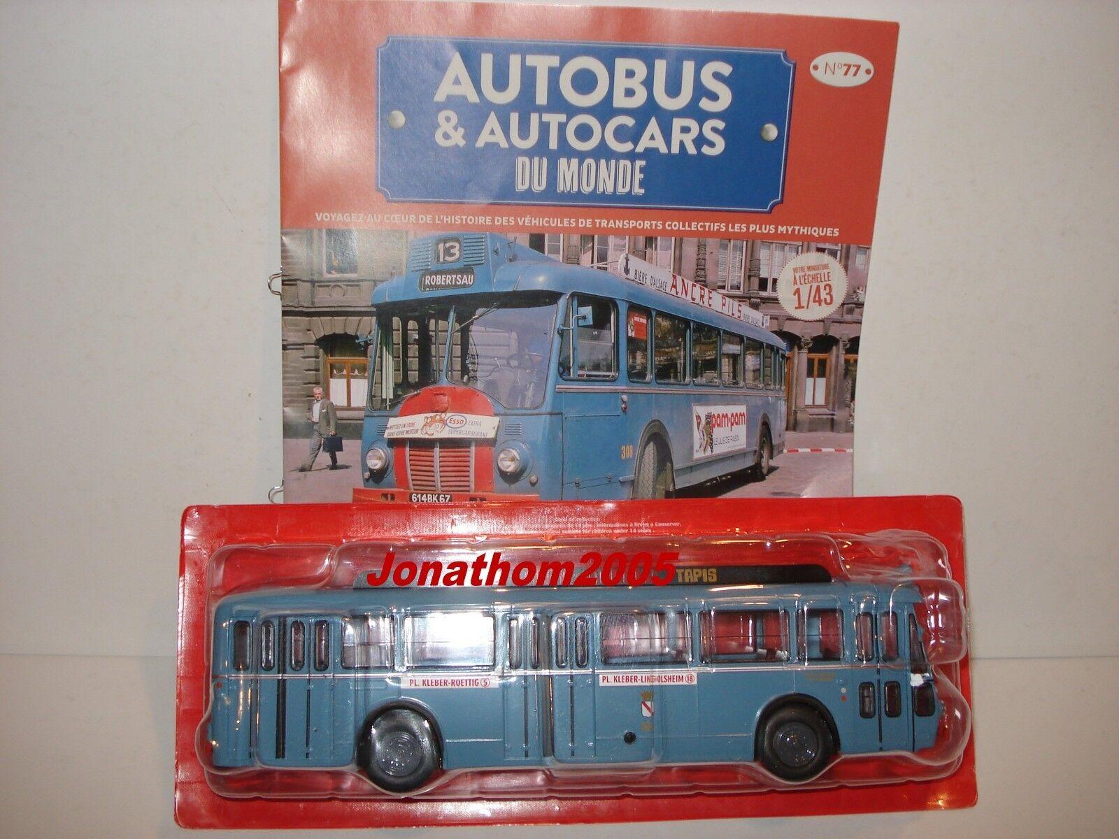 AUTOBUS & AUTOCARS DU MONDE - SOMUA OP5-3 - STRASBOURG FRANCE  1955  au 1 43°