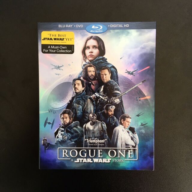 STAR WARS: ROGUE ONE - BLU-RAY + DVD + DIGITAL HD COMBO PACK **NEW & SEALED**