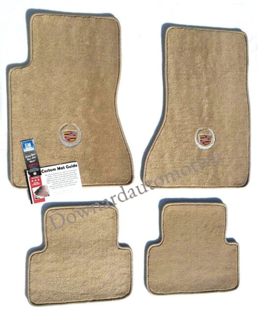 Cadillac CTS Beige Carpet Floor Mats 4Pc Cadillac Logo on Fronts-fits 2003-2007