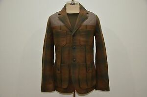 bf879991855f Nigel Cabourn Eddie Bauer Wool   Nylon Plaid Hunting Jacket 48 M