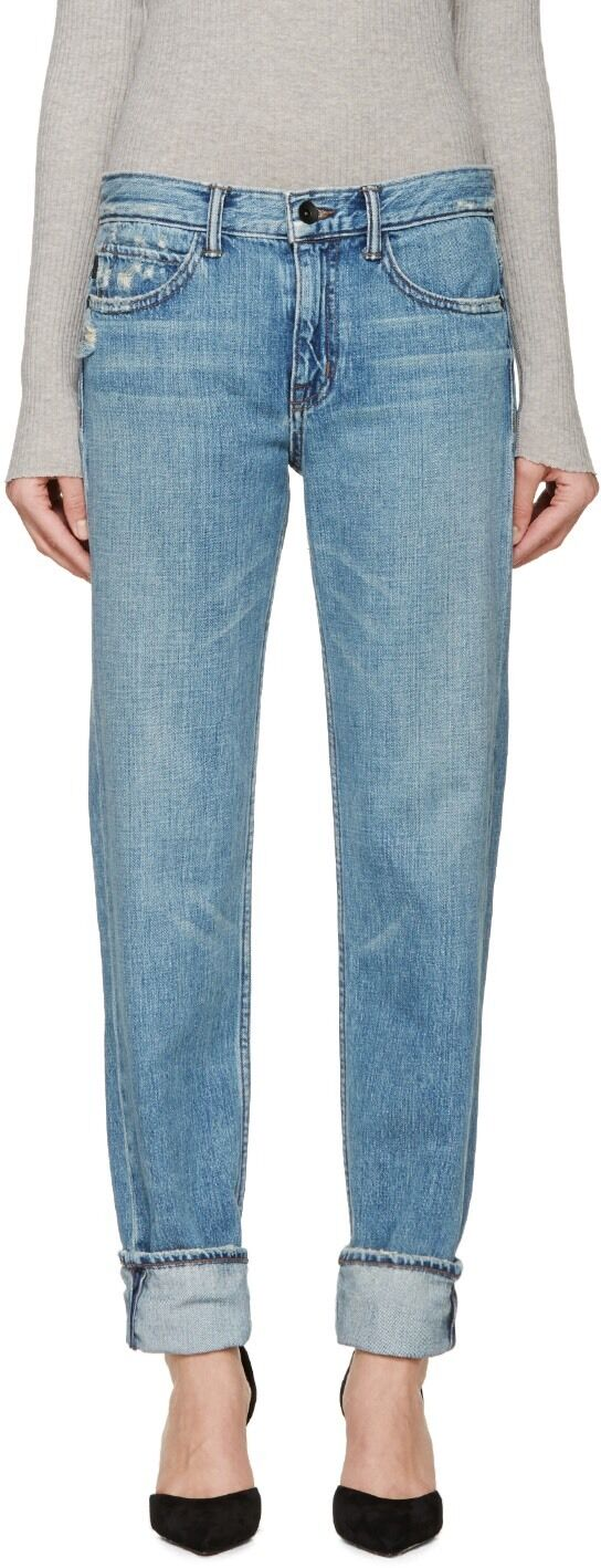 Helmut Lang Women's bluee Relaxed Tapered Jeans Size 26  275