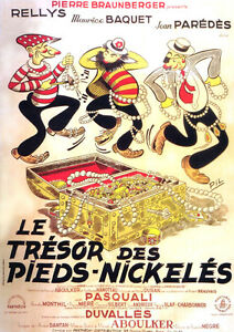 Le-tresor-des-Pieds-Nickeles-Pasquali-movie-poster-print