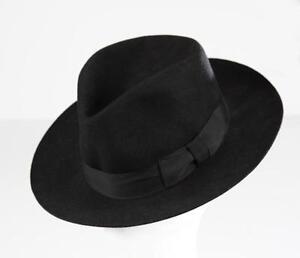 ed5a0aa9dd5 MJ Michael Jackson Black Collection Black Men s Wool Fedora Hat Cap ...