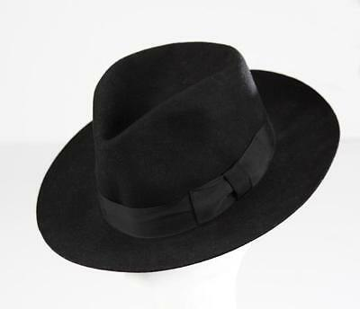 MJ Michael Jackson Black Collection Black Men's Wool Fedora Hat Cap Billie Jean