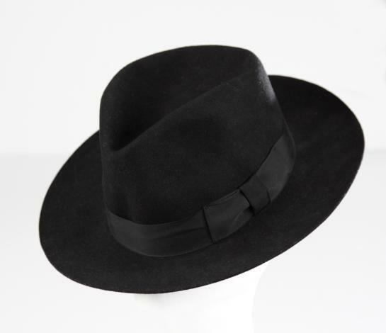 5c633bbde MJ Michael Jackson Black Collection Black Men's Wool Fedora Hat Cap Billie  Jean
