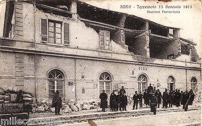 #SORA: TERREMOTO 13 GEN. 1915- STAZIONE FERROVIARIA