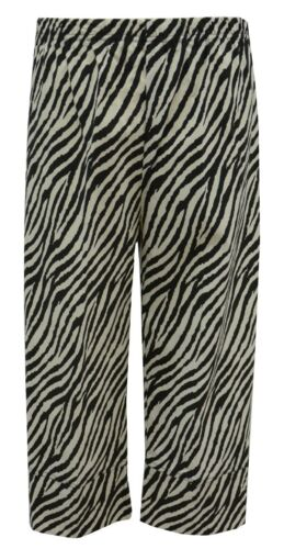 Womens new stretch bengaline crop trouser plus size 16-30 full elastic waist