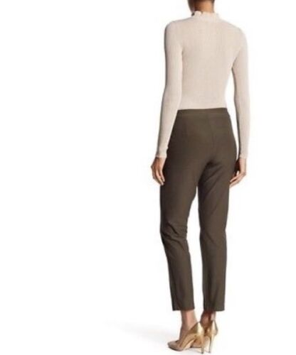 XS  $168 NEW EILEEN FISHER SURPLUS WASHABLE STRETCH CREPE SLIM ANKLE PANT