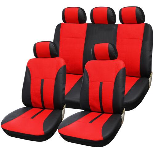 Auto Sitzbezug Schonbezug Bezugset Kunstleder für PKW ohne Seitenairbag AS7293
