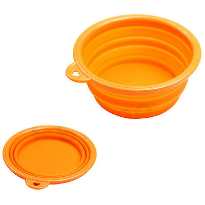 New Style Dog Cat Portable Silicone Collapsible Feeding Bowl Water Dish Feeder