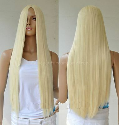 "75cm/30"" Long Fashion Women Heat Resistant Hair Full Wigs Straight Cosplay Wig"