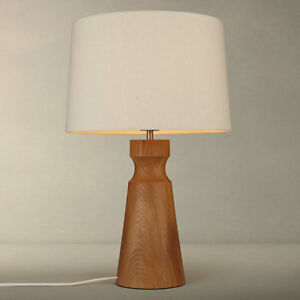 New john lewis camborne oak base table lamp natural rrp 160 ebay image is loading new john lewis camborne oak base table lamp aloadofball Gallery