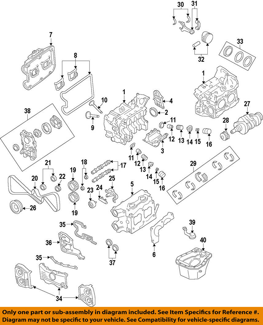 Ej25 Engine Diagram Wiring Schematics Ej20 Subaru Wrx Sti Ej257 Short Block Bare Case Halves Turbo Ebay Ka24e